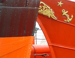 red (Camilla Engman) Tags: red orange black star boat anchor colorweek2