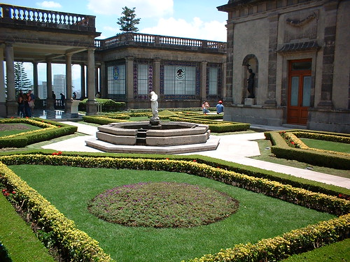 Inner court of the Castle of Chapultepec, Mexico City