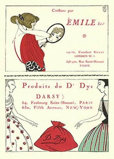 La Gazette du Bon Ton, Advertisements, 1920