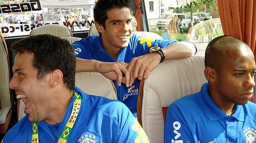 Julio Cesar, Kaká e Robinho por P.A.