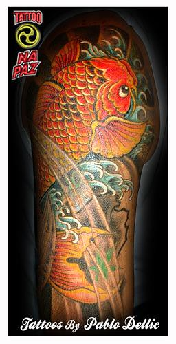 Tatuagem de Carpa do Erlen ,koi cover up Tattoo by Pablo Dellic