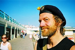 good beard (lomokev) Tags: portrait man male beach hat john beard brighton dof depthoffield moustache contax cap mustache agfa ultra t2 agfaultra contaxt2  deletetag johnsc roll:name=contaxt20606a file:name=contaxt20606a90