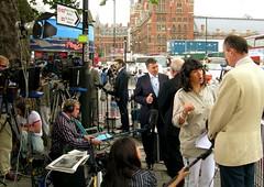Frank Dobson (Herschell Hershey) Tags: england news london station tv media cnn sound terror kingscross bombs 77 attacks reporters cameramen booms commemoration frankdobson twominutessilence christianeamanpour