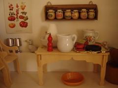 Dollhouse kitchen (Anna Amnell) Tags: kitchen miniatures cocina miniatura dollhouse thecook keittiö dollshouse munecas puppenhaus nukkekoti nukketalo detailsofadollhouse yksityiskohtia redhaireddoll