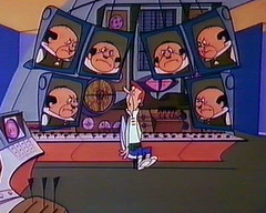 George Jetson at his workstation (mathowie) Tags: monitors jetsons