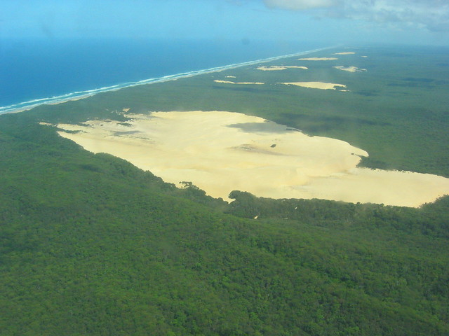 View from our flight over Fraser Island
