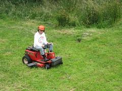 Svensen's Helmet Man (KC Creek Farm) Tags: man helmet mower
