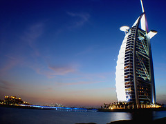 Silent Night (A Sutanto) Tags: travel blue sky building architecture night hotel twilight dubai dusk uae burjalarab