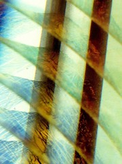 Layered Iridescence (Reciprocity) Tags: film glass 35mm reflections nikon superia patterns layers iridescent iridescence glas atelier nikomat nikkormat fused printscan slumped 105mm micronikkor glaskunst kunstglas studioglass reciprocity blanthorn
