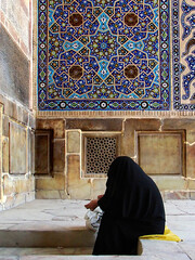 Old Praying Woman in Jame\' Mosque