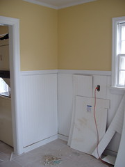 wainscoting in ugly stage 7-27 (Lorie09) Tags: renovation morningside