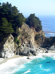 McWay Falls (travelpix) Tags: ocean california sea usa seascape nature water waterfall seascapes juliapfeifferburnsstatepark