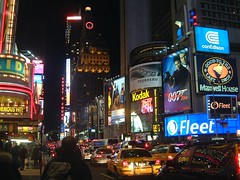 Times Square at Night (Ian Boichat @ Origin Studios) Tags: nyc newyork night yellowcab timessquare billboards adverts dieanotherday interestingness205