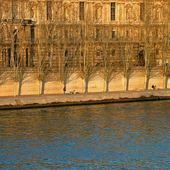 Winter Afternoon along the Quais, Paris II (Rita Crane Photography) Tags: blue trees light paris water river golden stock explore urbannature 75001 lelouvre quais stockphotography winterscene laseine reflectedlight squarephoto visitparis75001 scenewinter ritacrane ritacranephotography wwwritacranestudiocom