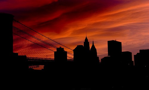 Silhouette of NYC Skyline