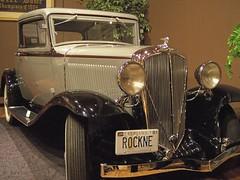 Coach Rockne's car (Valerie Everett) Tags: brown white car coach tan studebaker notre dame rockne