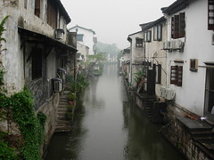 Canal, Shaoxing (NowJustNic) Tags: china mist rain fog canal nikon coolpix shaoxing zhejiang d80 nikkor18135mm coolpixe4200