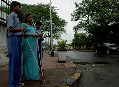 Mumbai's streets are blind to the blind. (lecercle) Tags: world people india blind bombay mumbai blindness lostinthecrowd livinginmumbia happyhomefortheblind difficuilty
