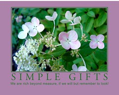 Simple Gifts (Roger Lynn) Tags: poster motivator hydrangea simplegifts