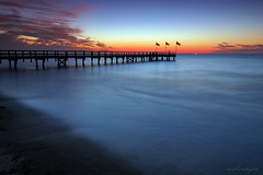 Waiting For Sunrise (Dietrich Bojko Photographie) Tags: longexposure sunset seascape tag3 taggedout night d50 pier bravo tag2 tag1 searchthebest webinteger quality balticsea nikond50 schleswigholstein 18mm cokinp121 nikkor1855mm gnd8 abigfave sütel alemdagqualityonlyclub