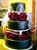 black wedding cake photo