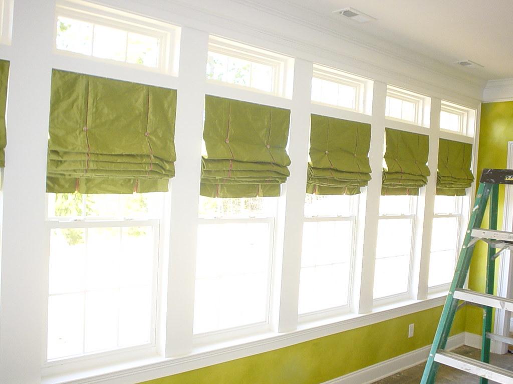 nine roman shades for sunroom for pat