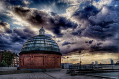 Greenwich (Simon Crubellier) Tags: uk england sky london thames clouds canon river eos europe greenwich victorian dome southlondon hdr eos20d simoncrubellier interestingness16 i500