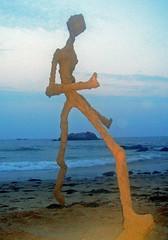 if sand could outrun the sea (i think it might look like this) (sandcastlematt) Tags: sculpture beach sand dusk massachusetts sandman grainy sandsculpture manchesterbythesea singingbeach iadmititskindofcreepy