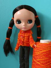 firecardigan_02 (Helena / Funny Bunny) Tags: doll blythe olds ebl lovemission funnybunny decembersnow solidbackground fbfashion