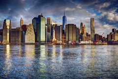New York City (mudpig) Tags: newyorkcity panorama newyork color reflection brooklyn skyscraper sunrise river outdoors photography colorful cityscape manhattan financialdistrict eastriver hdr cloudscape horizonte nuevayork fido orizzonte  2015 brooklynbridgepark  cidadedenovayork colorscape stevekelley    linhadohorizonte lignedhorizon ufukizgisi      thnhphnewyork   kakilangit   lavilledenewyork stevenkelley chntri  sylwetkanatlenieba     latarlangit