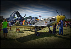 Titan T-51 • N751TX (SteveMather) Tags: ohio usa scale grass plane airplane three shadows antique aircraft airshow worldwarii quarter oh warren mustang fighters titan northeast 34 flyover airstrip flyin biplane spe flyby p51d yng 2015 ¾ dxoopticspro t51 homebuilts 3rdannual topazlabs wingsnwheels camelsmoker anthropics n751tx amateurbuilt smartphotoeditor nikond7100 sloasairfield