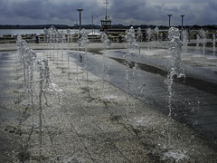 Fountain Field (Tony Tomlin) Tags: ocean sea beach germany baltic maritime fountains lubeck travemunde