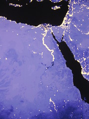 Nighttime Egypt and Levant (futureatlas.com) Tags: africa light night israel northafrica map palestine satellite redsea egypt nile syria population saudiarabia sinai levant