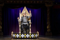 John Rubinstein as Charlemagne in the national tour of PIPPIN presented by Broadway Sacramento at the Sacramento Community Center Theater Dec. 29, 2015 – Jan. 3, 2016.  Photo by Terry Shapiro.