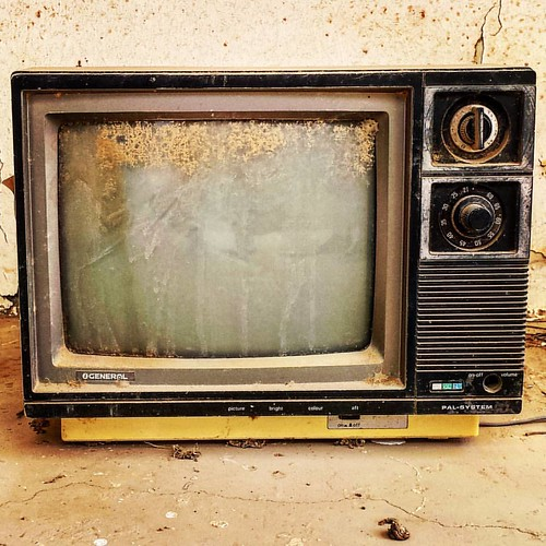 Some people remind me of old TV sets, you have to hit them few times till they get the picture.  An old TV set from ruins of 1980's  #AnOldTV #TV