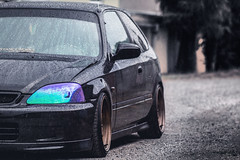 Honda Civic EK4 (Luky Rych) Tags: road black forest canon honda low wheels fast civic 16 jdm stance rota vti ek4 100d speedhunters stanceworks 195hp