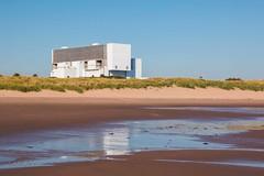 Torness Power Station & Thorntonloch Beach (Briantc) Tags: reflection beach reflections scotland nuclear beaches powerstation tideout eastlothian torness thorntonloch