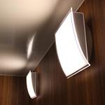 浴室用壁付けLED照明の写真