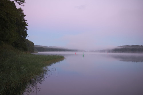Pink dawn at Petersdorfer See
