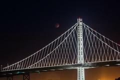 This was my best #supermoon photo (eugevon) Tags: baybridge lunareclipse bloodmoon supermoon