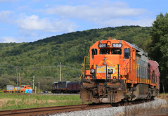 Bingo! (GLC 392) Tags: railroad sun mountains train labrador quebec pennsylvania north central railway trains pa shore northshore passenger alstom corning 309 307 tioga wellsboro emd sd402 6059 gcfx sd403 qnsl wcor sd402clc