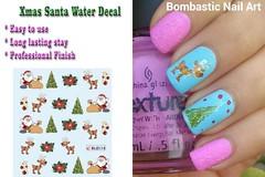 BLE114 NAIL (Jasmeet.k) Tags: santa christmas xmas tree art water nail slide musical decal transfer nailart bombastic