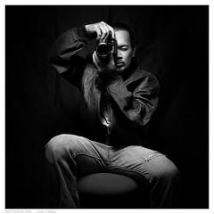 Self Portrait 2015 (Juan Calleja) Tags: blackandwhite selfportrait man monochrome leather studio blackwhite nikon juan framed border highcontrast manila denim studioshot f2 nikkor leatherjacket manfrotto nikkorlens nikonf2as nikkorlenses nikonschool rippeddenim nikonphilippines nikond800 juancalleja juancallejafineart