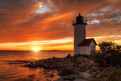 Shift Change in Annisquam (NYRBlue94) Tags: annisquam lighthouse light color sky clouds gloucester new england sunset