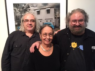 Gustavo Acosta with exhibiting artist Gory - Rogelio Lopez Marin- and his wife poet Lucia Baluster