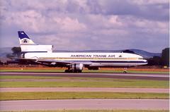 American Trans Air L1011 Tristar N191AT at Manchester (A F Photos) Tags: manchester air american trans tristar l1011 n191at