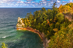 Miners Castle (Cole Chase Photography) Tags: autumn fall canon michigan 5d upperpeninsula munising markiii picturedrocksnationallakeshore minerscastle