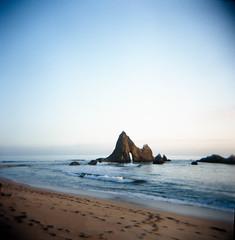 Martins beach (-Alberto_) Tags: seascape 6x6 mediumformat 120film holga120n fujicolor160