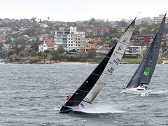 62+116: Wave surfers (geemuses) Tags: sailing manly sailors nsw sydneyharbour sailingboats strongwinds
