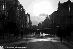 Looking down Briggate in the beautiful city of Leeds. (MAMF photography.) Tags: road street city uk greatbritain winter england people blackandwhite bw streets monochrome beauty photography town photo blackwhite google nikon flickr noir december image noiretblanc zwartwit unitedkingdom britain yorkshire united negro leeds kingdom motionblur gb portfolio upnorth zwart pretoebranco schwarz biancoenero westyorkshire briggate greatphoto googleimages nikond3200 enblancoynegro ls1 zwartenwit greatphotographers d3200 mamf inbiancoenero leedscitycentre schwarzundweis variablendfilter mamfphotography